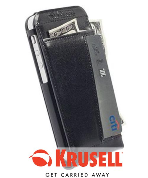 Krusell WalletCase iPhone 5/5S/5C Black