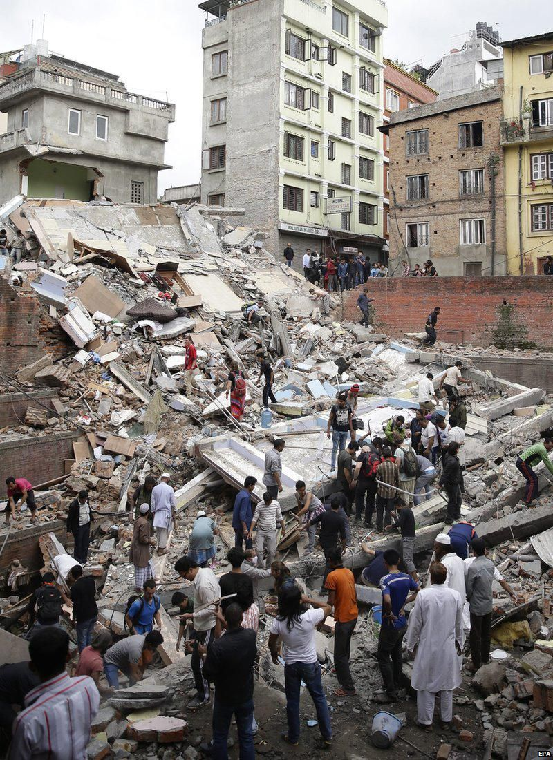 Rescue efforts after Nepal earthquake 4/25/15