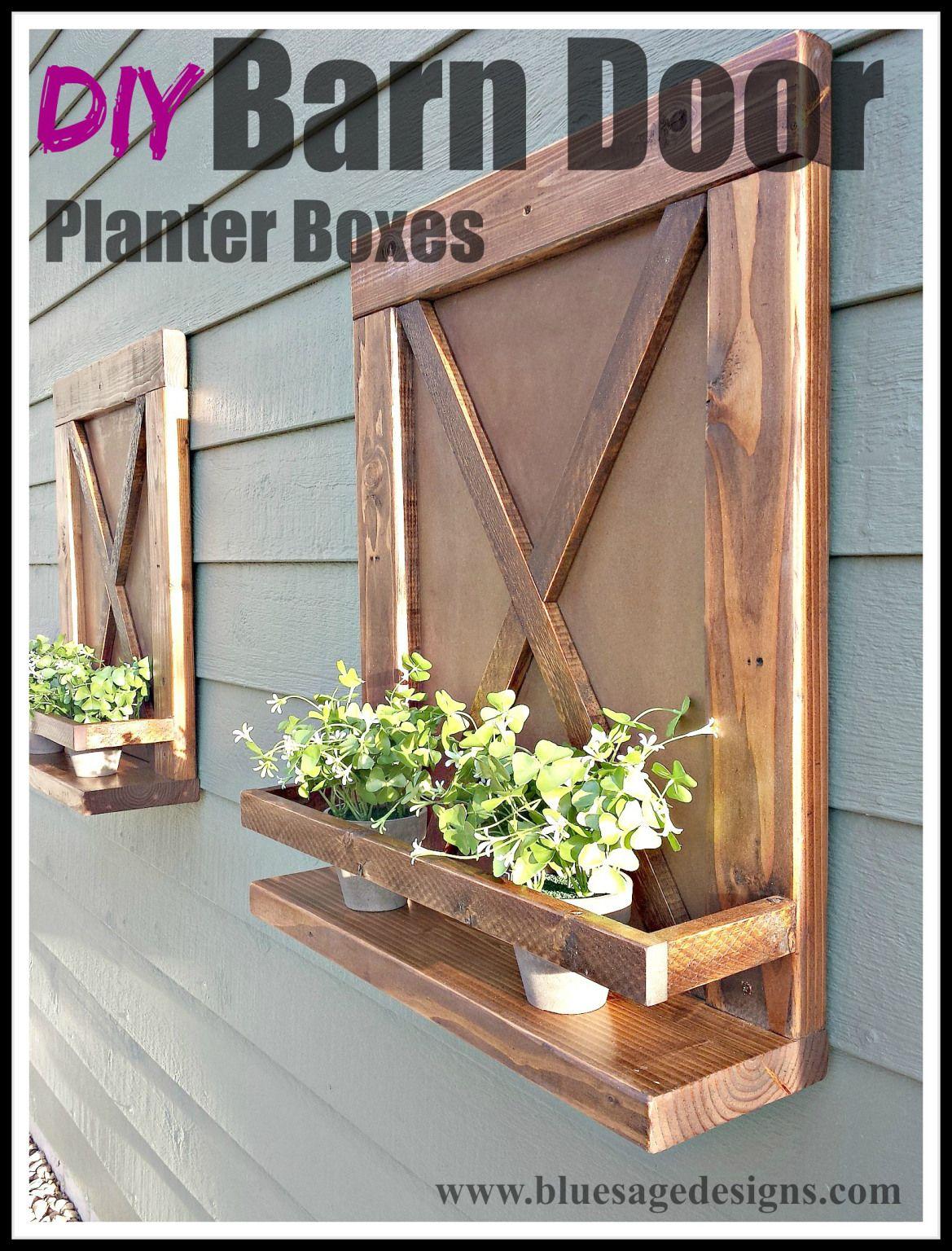Diy Barn Door Planter Boxes Planter Boxes Planters Diy