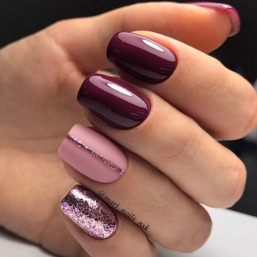 Ногти сливового цвета дизайн фото