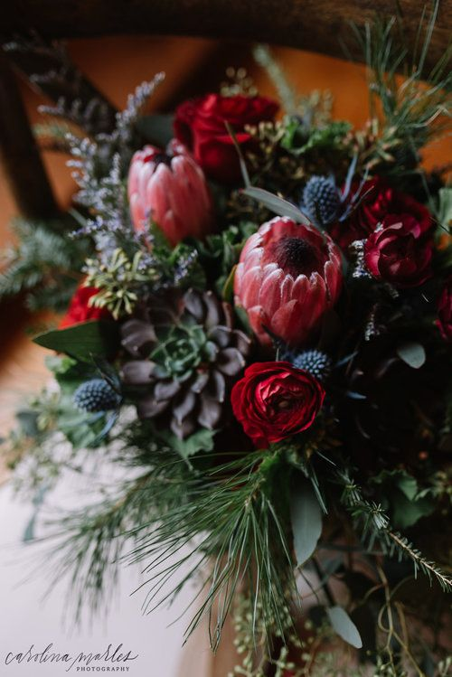 Winter Wedding Bouquet The Preserve At Chocorua Florals By