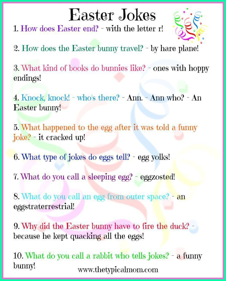 Free Printable Easter Jokes For Kids Kids Love Jokes And