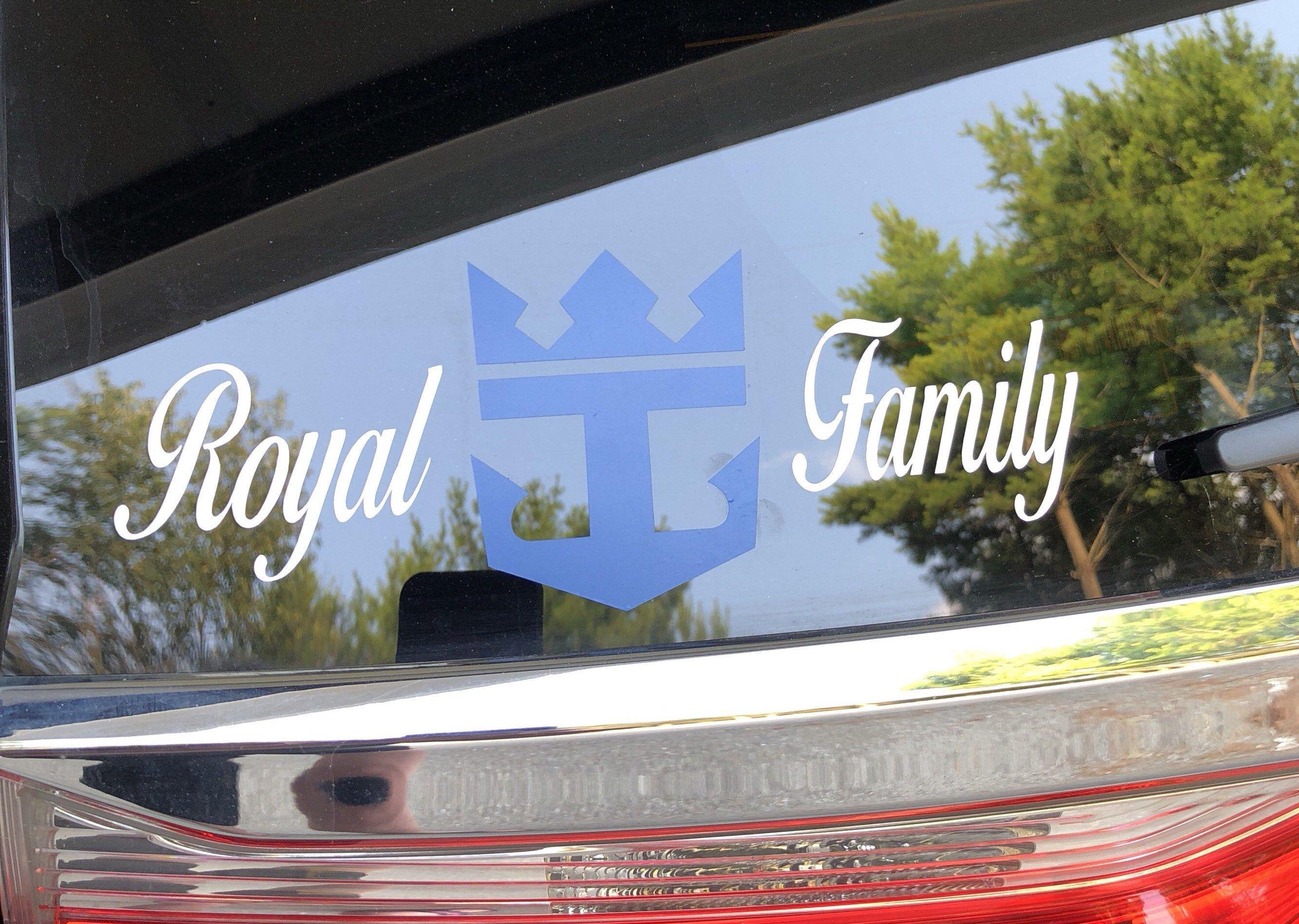 Royal Caribbean inspired car decal, Cruise, gift Royal