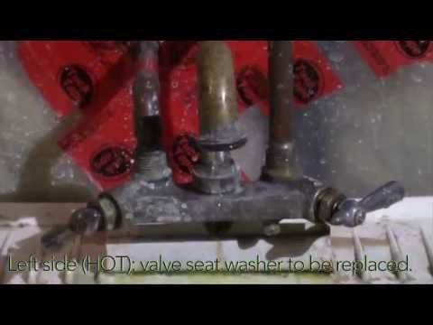 Fix Leaky Laundry Tub Faucet:Part1 (replace Valve Seat Washer) DIY