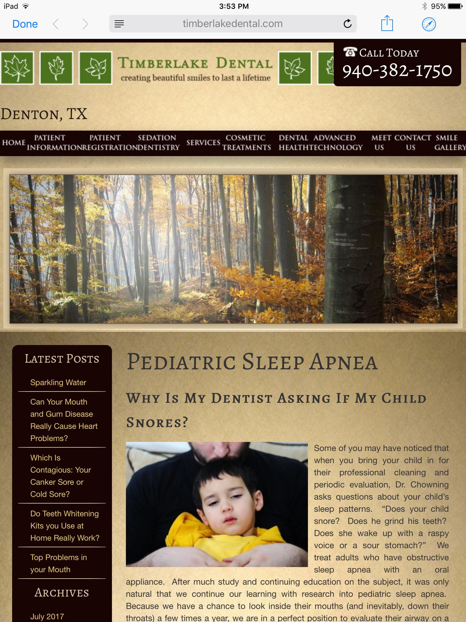 Pediatric Sleep Apnea | Patient Education Blog by Timberlake
