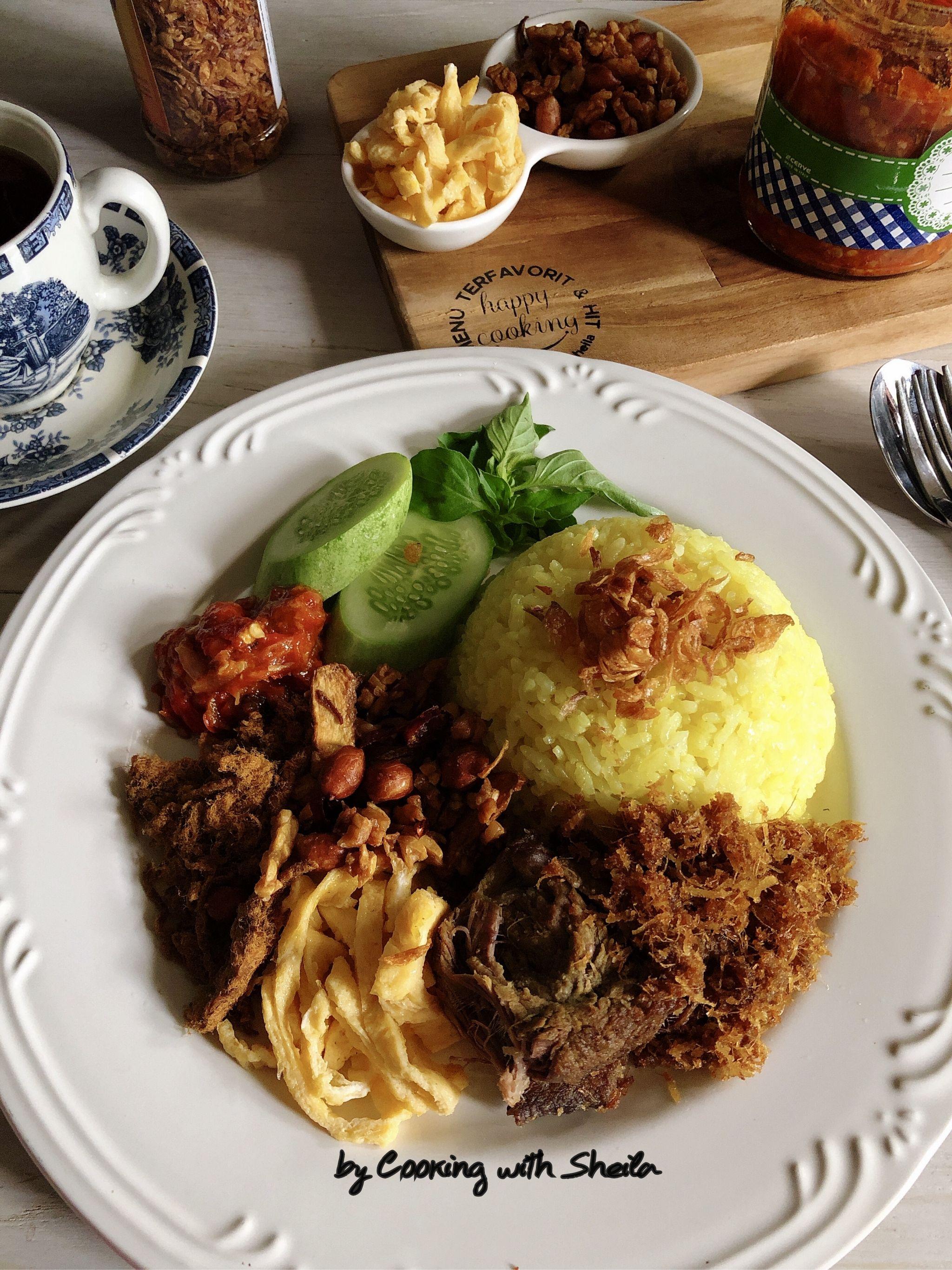 Nasi Kuning Rice Cooker : kuning, cooker, Kuning, Cooker, Makanan,, Memasak,, Resep, Masakan, Indonesia