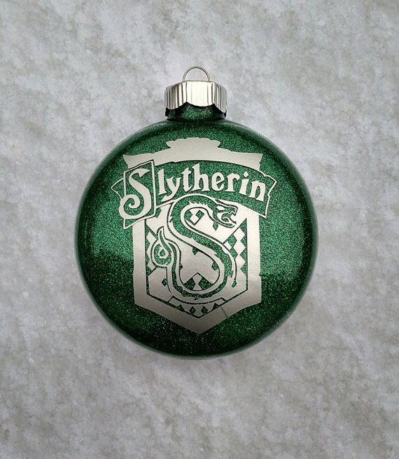 Slytherin Hogwarts Christmas Ornament By Gretchinsetchins On Etsy