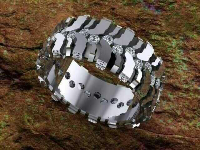 mud tire ring husband wedding band - Mud Tire Wedding Rings