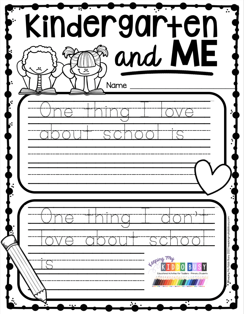 End Of The School Year In Kindergarten Free Printables Keeping My Kiddo Busy Kindergarten Writing Prompts Writing Center Kindergarten Kindergarten Writing [ 1056 x 820 Pixel ]