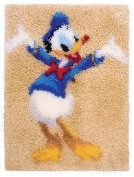Anchor Disney Latch Hook Rug Making Kit Dppm901 Donald Duck Ebay