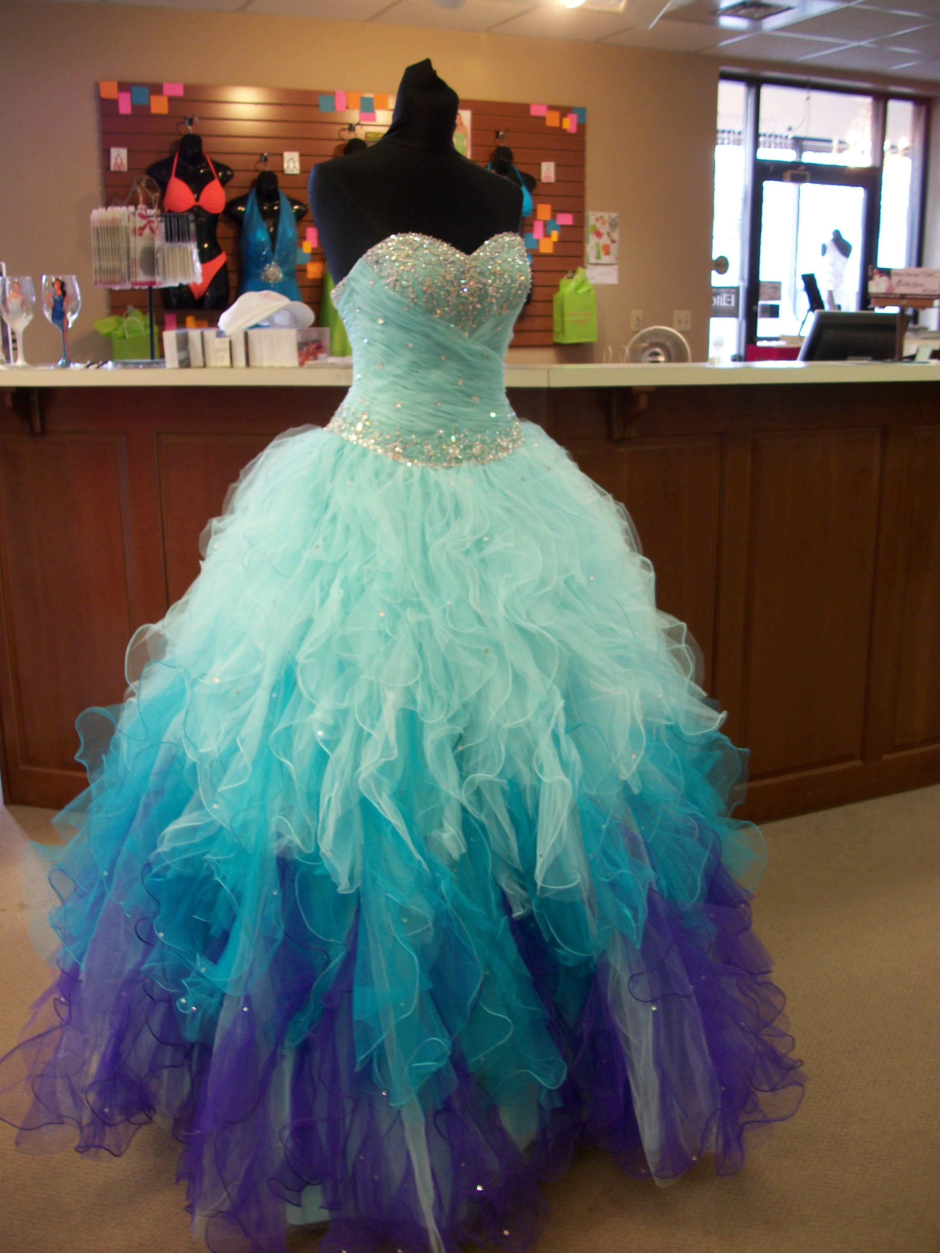prom ,pageant, quinceanera, by Mori Lee but looks like a rabid ...