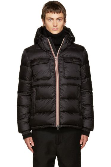 moncler black down maya jacket