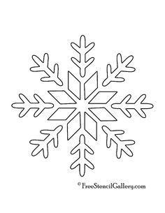 printable snowflakes stencils snowflake stencil 09 crafts