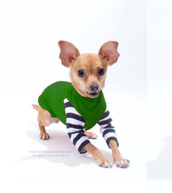 Black And White Striped Dog Shirt