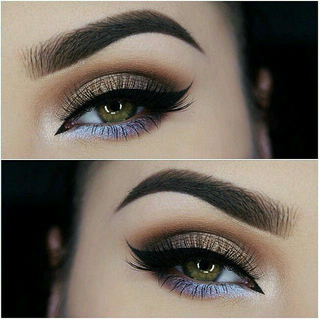 b98e2438a4b GORGEOUS Dual-Tone 'Cat Eye' Makeup ~ Her top eyelid is done in a neutral  shimmery smokey eye; but under her eye, she uses purple, blue and white to  add a ...