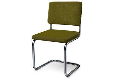 Rib Stoel Groen : Buizen frame stoel rib retro groen g stoelen