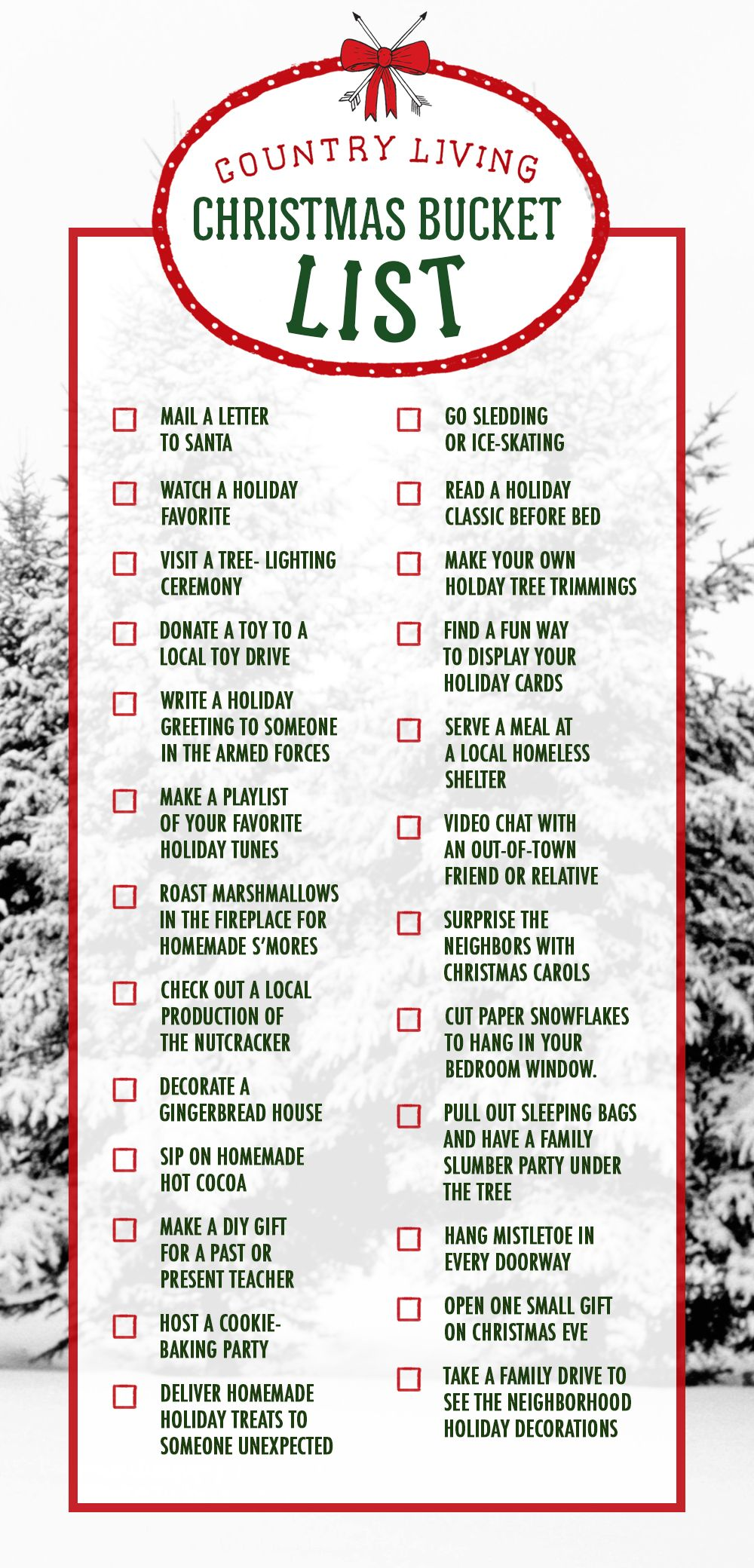 The 25 Most Quintessential Christmas Activities