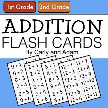 Addition Flash Cards | Tatsachen, Sonstiges und Gleichung