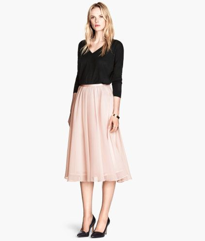 d96e47a172 Calf-length Skirt | Product Detail | H&M | AphroChic: What To Wear ...