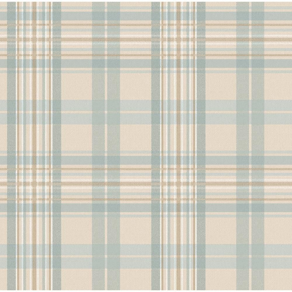 Austin Light Blue Tartan Wallpaper Sample