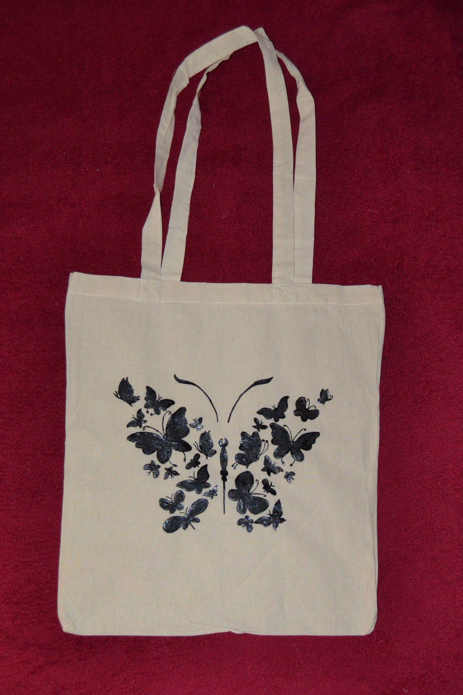 b0b6490a3 Bavlněná ručně malovaná taška Krásná, bavlněná, ručně malovaná taška.  Rozměry 42 cm x