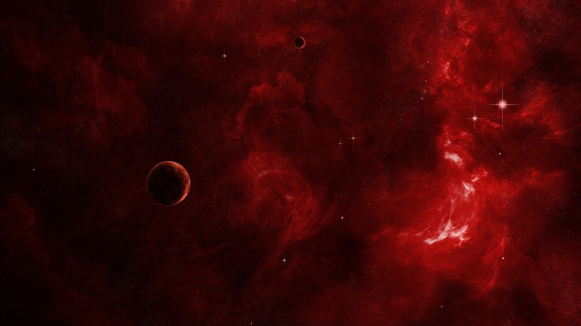 Red Nebula Download Hd Wallpapers