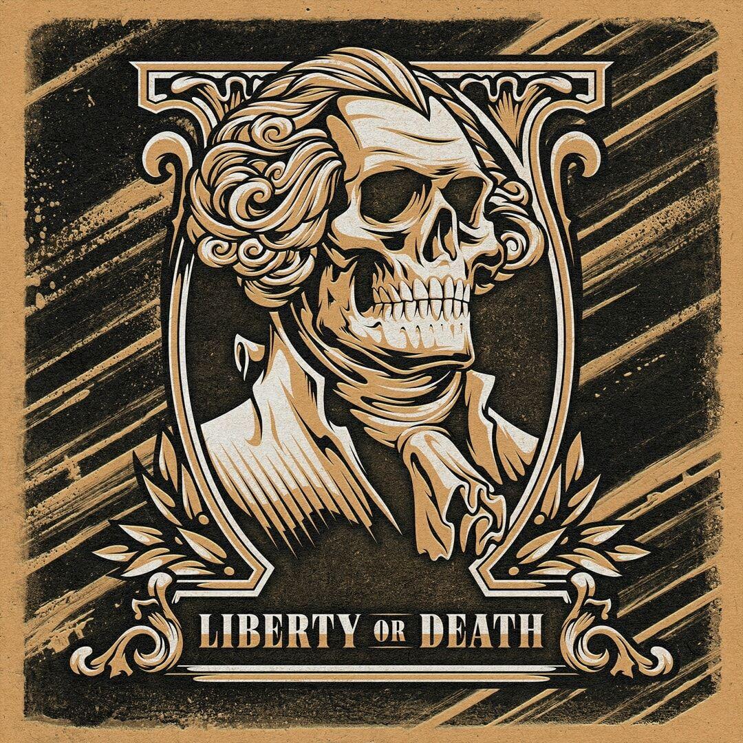 Skull money top illustration design, graphic deesigner