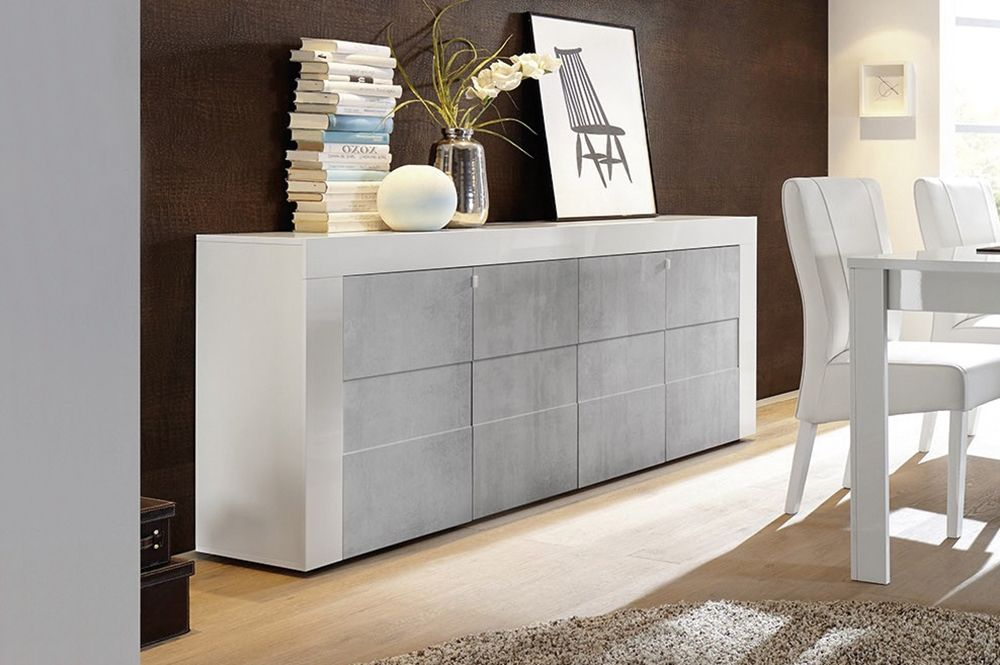 Credenza Moderna 4 Ante Basic : Credenza madia a 4 ante ingresso pinterest and the