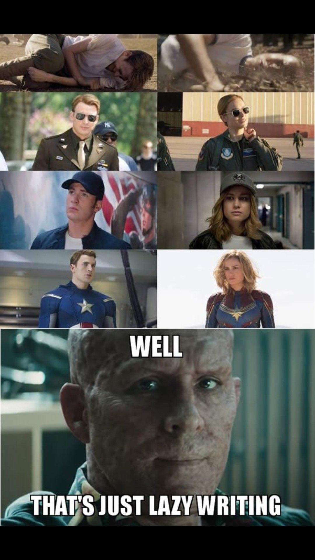 Wade Is Right I Think But Cap America Better Then Cap Marvel I Think With Images Marvel Funny Marvel Superheroes Funny Marvel Memes