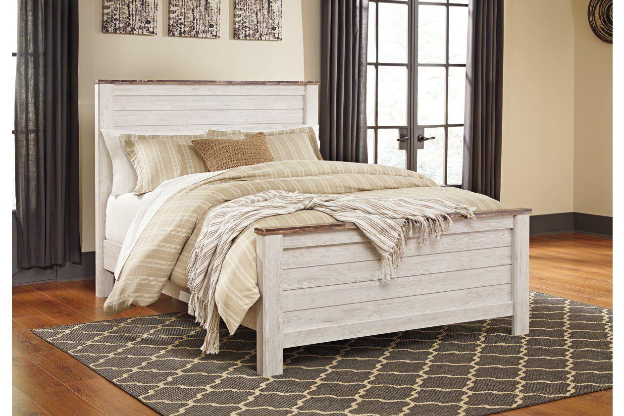 Willowton Queen Panel Bed Bedroom panel, Queen panel