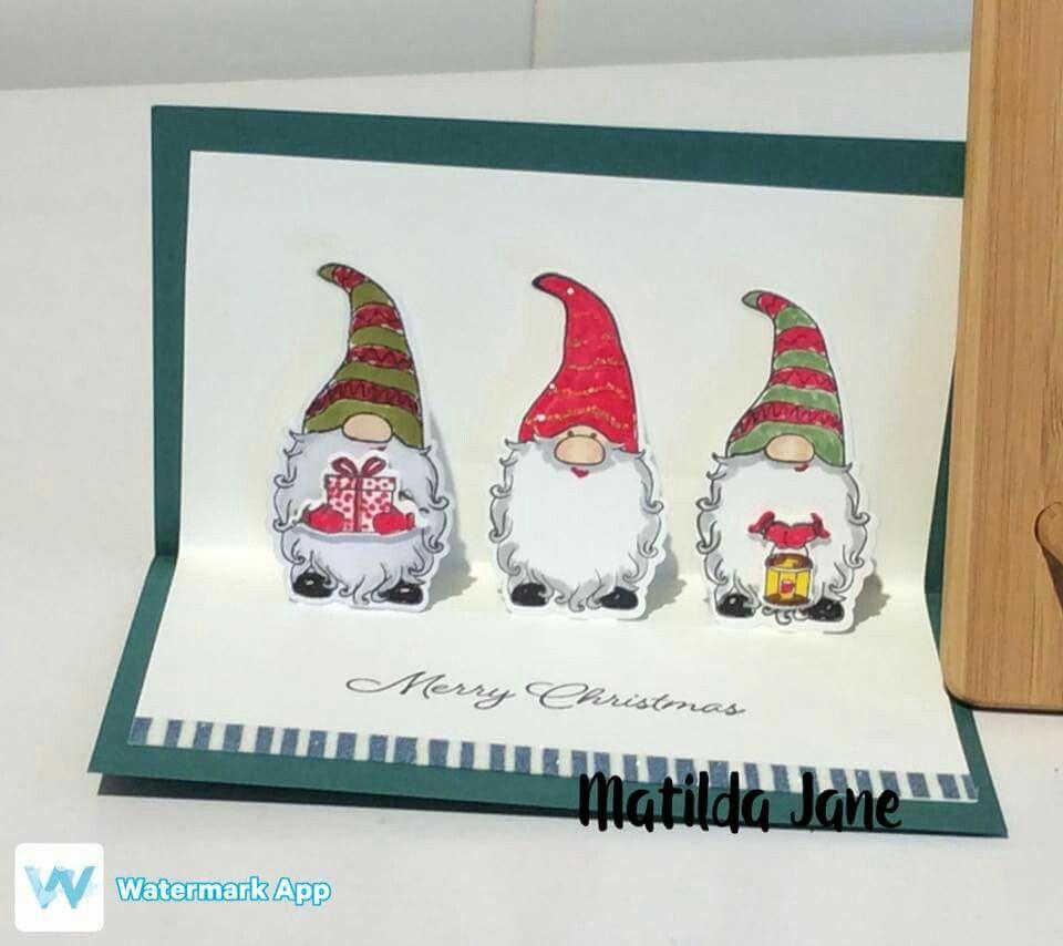 Vintage Metal Applique Gnome Embossed Box Decoration