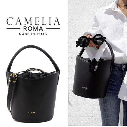 関税送料無料★今春注目!CAMELIA ROMA レザーバケツ型バッグ