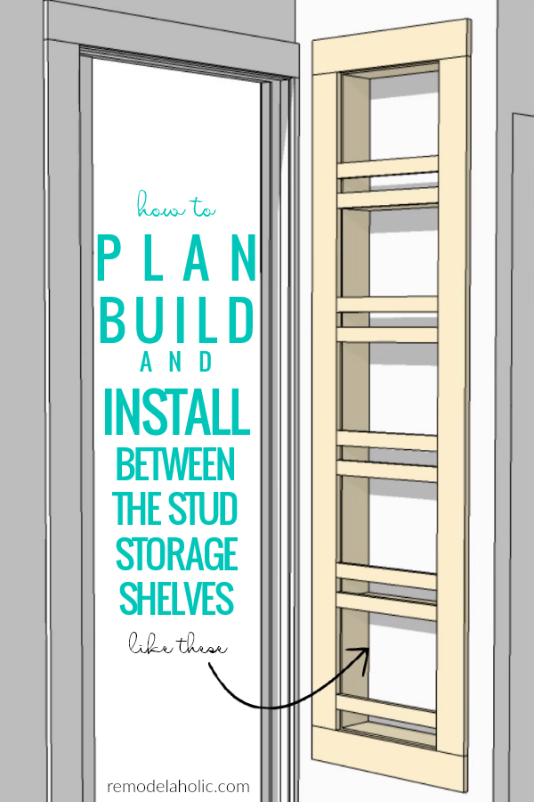 Remodelaholic | Adding Built-In Shelves for Bathroom In-Wall Storage
