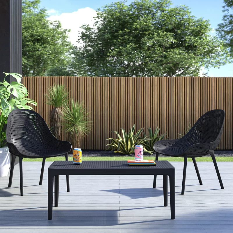 Brittney 3 Piece Seating Group Reviews Allmodern In 2020 Outdoor Sofa Sets Conversation Set Patio Patio