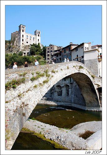 The Bridge and The Doria's Castle - Dolceacqua (Imperia), Italy