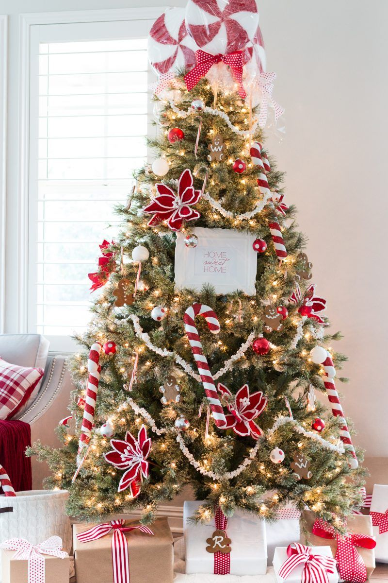 This Diy Peppermint Christmas Tree Topper Tutorial Is Featured At This Week S Link P Unique Christmas Trees Cool Christmas Trees Christmas Tree Toppers Unique