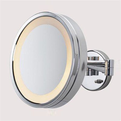 This Lighted Make Up Mirror Is 10 Inches In Diameter With A Super Strong 5x Magnification Features A Large 10 S Wall Mounted Mirror Mirror With Lights Mirror