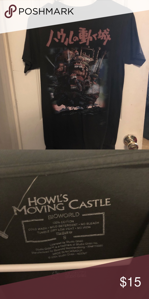 e1f498b3 Dark grey Howell's moving castle tee I got this shirt at hot topic. Worn a  few times. Hot Topic Tops Tees - Short Sleeve