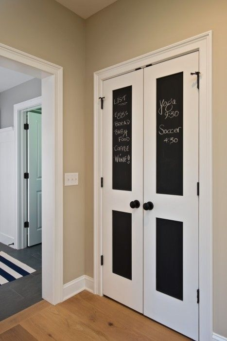 Utilize Your Closet Or Pantry Doors By Adding A Closet Door Chalkboard.