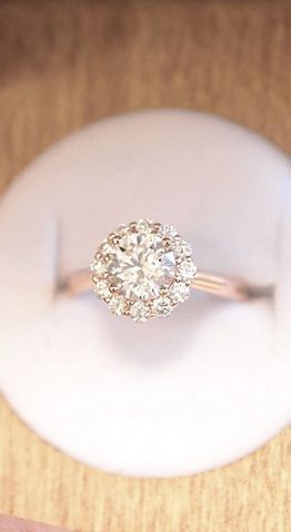 14k Rose Gold Lotus Flower Diamond Ring 14 Ct Tw Engagement