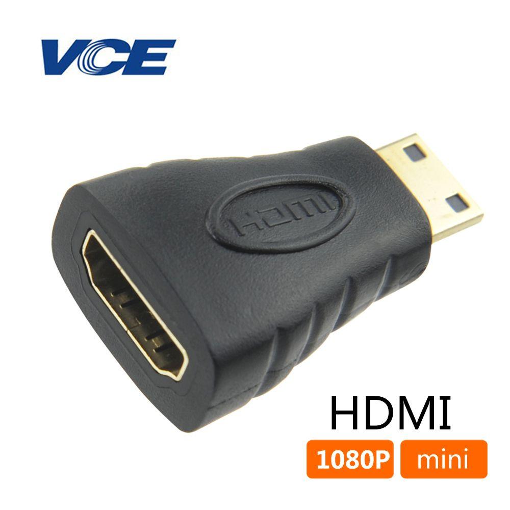 Mini hdmi maschio a hdmi femmina adattatore f-m converter connettore cavo adattatore per hd 1080 p tv camera