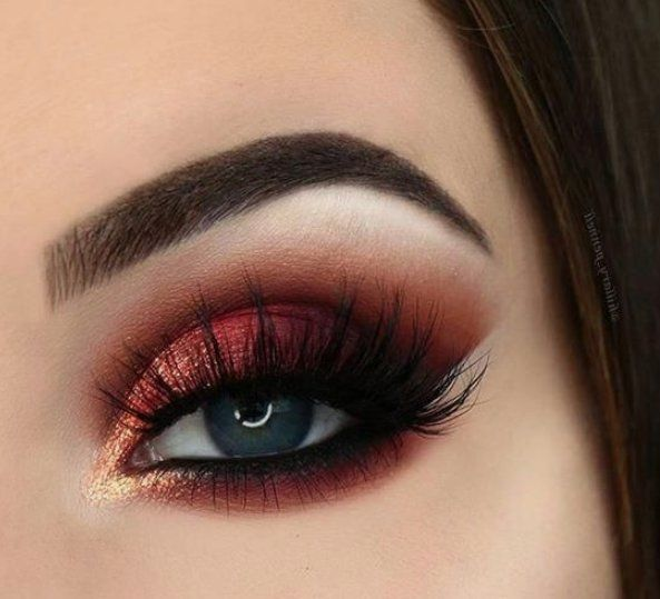 55 Most Sexy and Eye-Catching Orange Makeup Tips for Prom and Weekend Party - pinbeauty #eyemakeupideas
