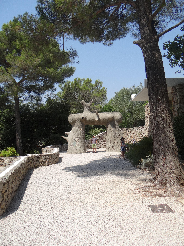 Miro sculpture, Maeght Fondation, St Paul de Vence, France