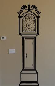 Grandfather clock wall sticker Time please Pinterest