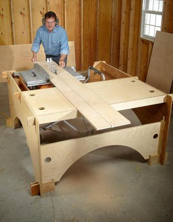 Diy Table Saw Table Shop Layout Pinterest Diy Table Saw