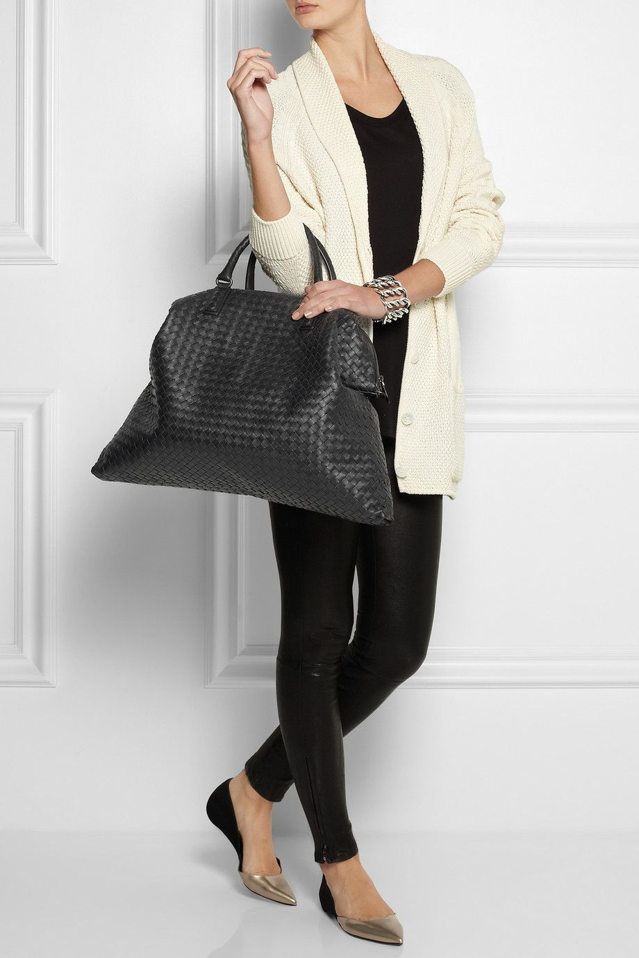3a4b7423db68 Bottega Veneta | Intrecciato leather tote Just the right size for hand  luggage.