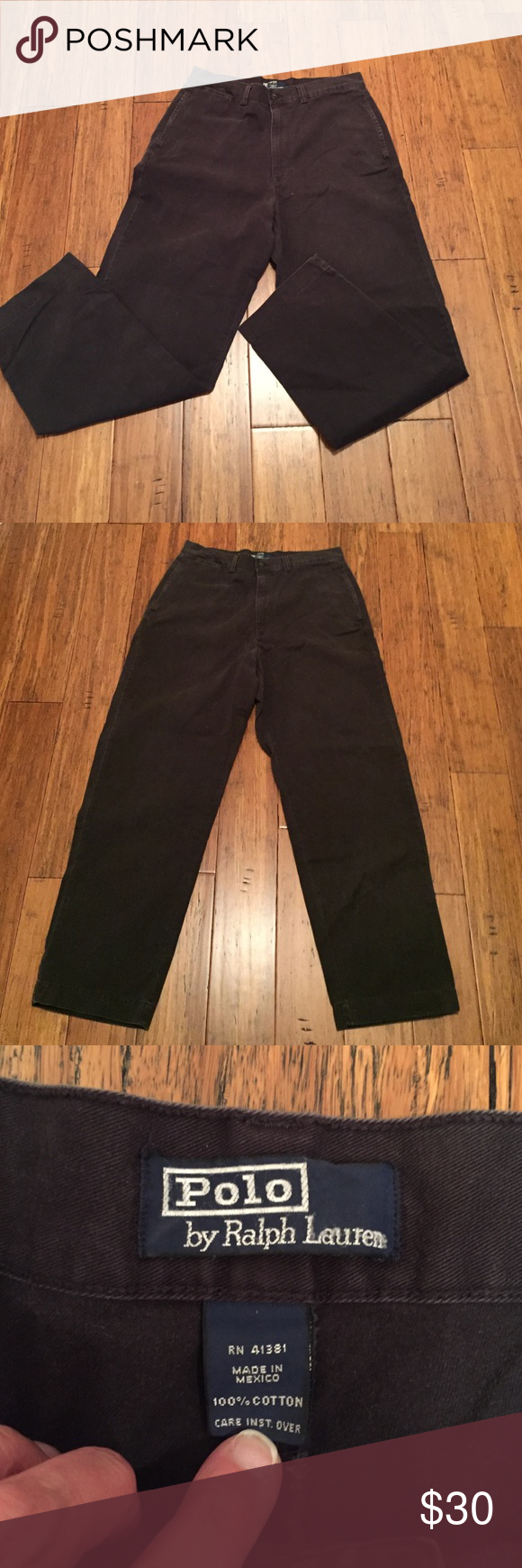 Polo by Ralph Lauren chinos Never worn navy chinos...size 33 by 32. Flat front perfect condition -- closet staple for work or play. Polo by Ralph Lauren Pants Chinos & Khakis