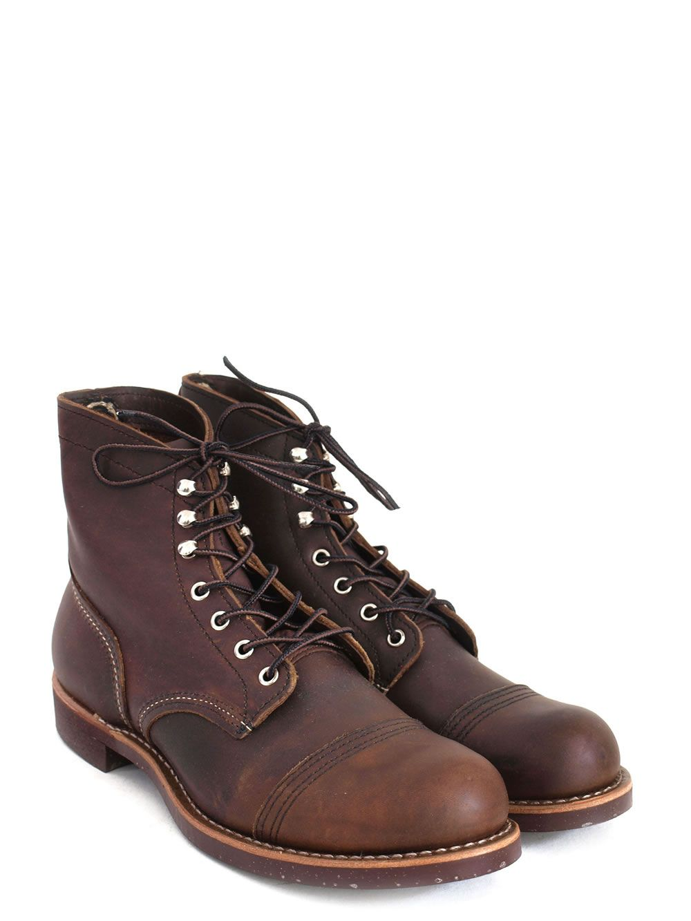 8111 iron ranger amber harness boots red wing shoes