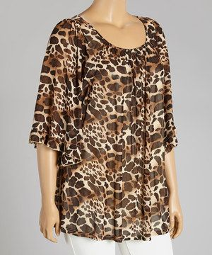 This Lady Noiz Brown Leopard Tunic - Plus by Lady Noiz is perfect! #zulilyfinds