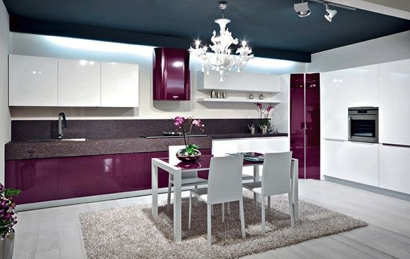 Resultado de imagen para cocinas integrales modernas para espacios pequeños color verde